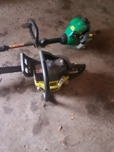 Chain saw weed eater combo