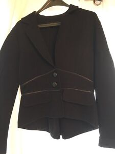 Nine West sweater blazer - black