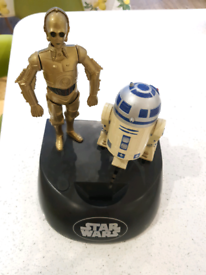 Vintage Star Wars C3PO and R2-D2 Electronic and Sound Money Box