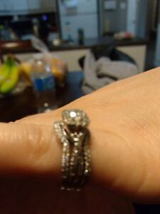 Engagement Ring Set From Peoples 14K White Gold 0.70CTTW