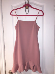 Pink cocktail dress from Honey Boutique