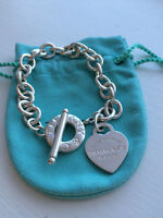 Please Return to Tiffany & Co. Sterling Silver Heart Tag Toggle