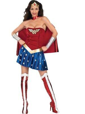 Erwachsene Damen Wonder Woman Superheld Kostüm für Verkleidung (Superhelden Kostüme Für Wonder Woman)
