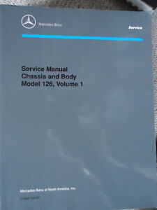 Mercedes Manual chassis and body model 126 volume1 & 2