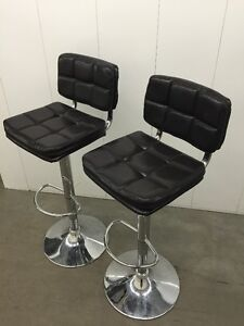 Barstools x2 - Brown/Chrome . . .  also other occassional chairs