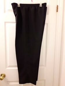 Elasctic Waist Black Dress Pants 3
