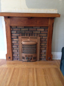 Antique Cast Iron Electric Fireplace Insert