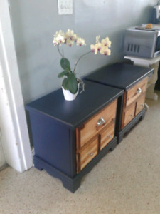 Midnight Blue Bedside tables