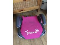 Graco pink princess booster seat 15kg to 36kg car seat