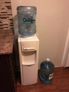 Water cooler and long ottoman
