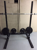 """Northern Lights 72"""" Cross Box Squat Stand and Olympic Bar"""