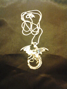 Sterling Silver Dragon Pendant + Chain