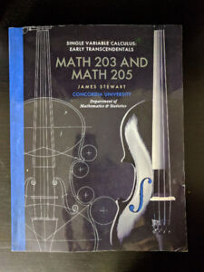 SINGLE VARIABLE CALCULUS: EARLY TRANSCENDENTALS MATH 203 / 205