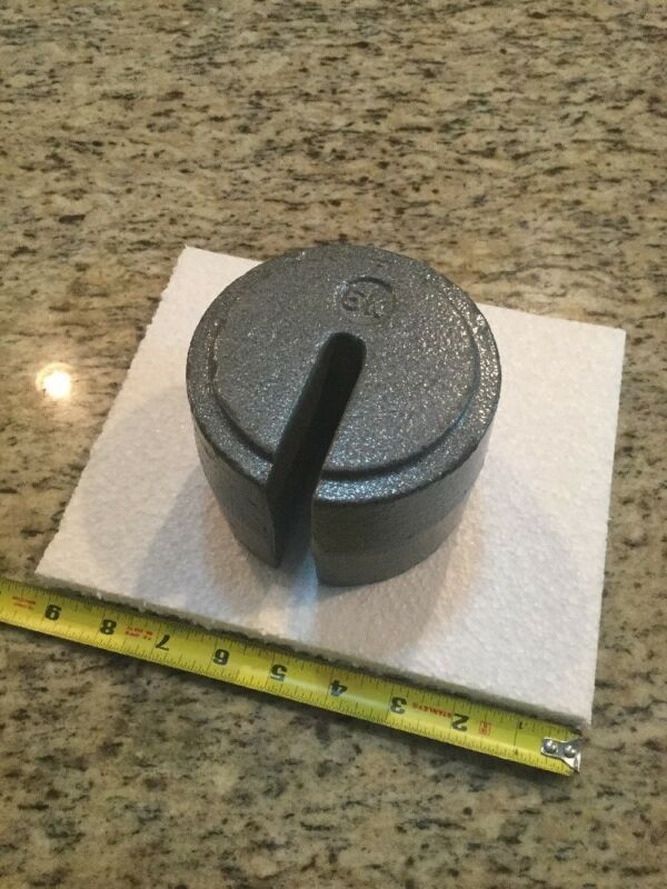 5K, 5 Kilogram Slotted Stackable Weight, Mass Painted Iron