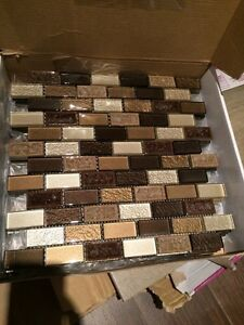 Tiles- backsplash / accent with grout !