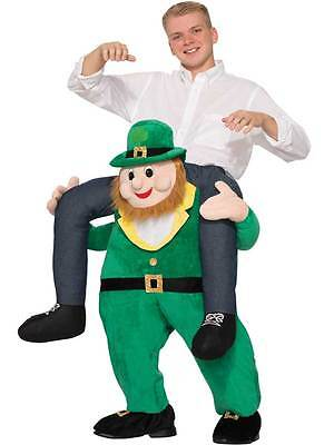 Piggy Back Carry Leprechaun St Patricks Day New Fancy Dress Mascot Costume V2 - Leprechaun Mascot Costume