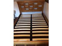 Double oak veneer bed