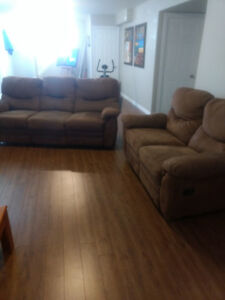 Reclining couch and loveseat in Tilbury