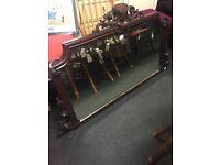 Vintage over mantle mirror