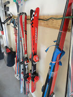 2 Pair Cross Country Skis with Poles $20 Each