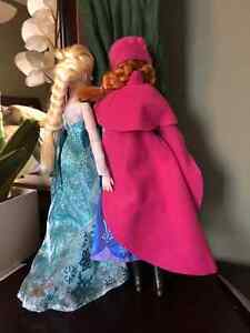 Elsa and Anna from Frozen, Barbie dolls Cambridge Kitchener Area image 2