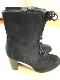 Black suede Ladies Boots