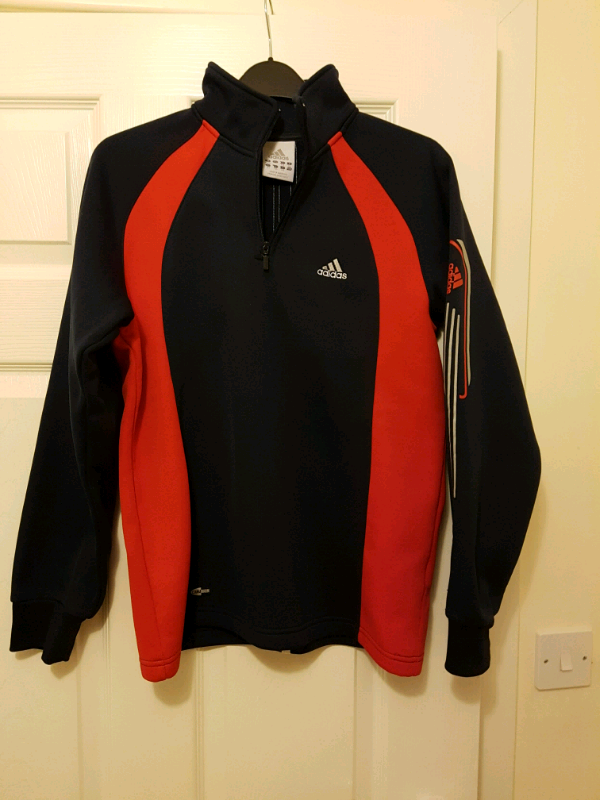 the best attitude 31f0b 0ca61 Boys Age 11-14yrs Adidas Climacool Red And Black Thick Winter Top | in  Bournemouth, Dorset | Gumtree