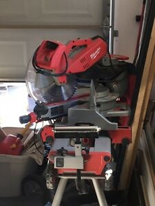 "Milwaukee 12"" digital miter saw with stand"