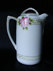 Limoges Tea Pot 'Green Grasses'