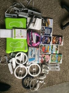 Wii games console wheels etc
