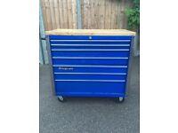 "40"" Snap on toolbox - wooden top - just like Mac tools - garage equipment"
