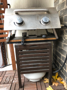 Stainless steel bbq and propane tank