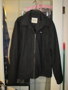 Brand New Old Navy Modern Wool Zipper Jacket Coat - Large