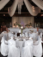 200 White Universal chair covers