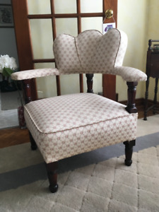 Antique sword or corner chair (upholstered seat,back