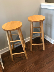 Solid wood bar stools - excellent condition!