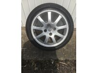 Alloy wheel with excellent tyre for Peugeot 206 4 stud 205/45/r16 87v
