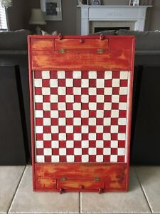 Antique checker board with pieces - Jeux de dames antique