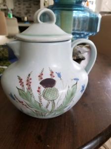 Buchan Thisleware Porcelain jug or coffee pot Thistle Scottish