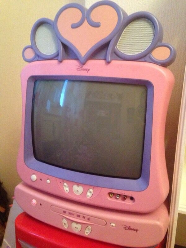 Disney Princess tv And Dvd Player Disney Princess Pink Tv/dvd
