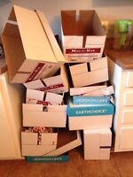 Free boxes for moving - pick up ASAP Laval