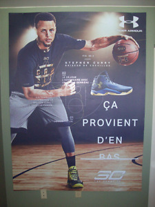 HUGE 58'' X 78'' STEPHEN CURRY UNDER ARMOUR AFFICHE AD POSTER