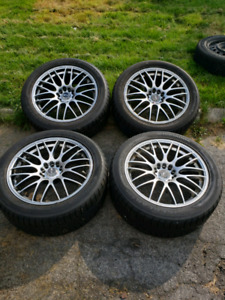 "18""x7"" Msr rims 5x114.3/5x120 with brand new winter tires"