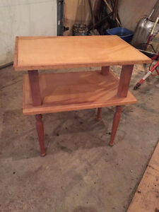 Two shelved Table