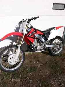 Honda CR250R, very clean bike.