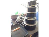 Wesco saucepan set, wok, griddle, frying pans