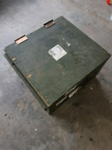 Hinged army boxes