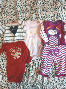 Box baby girl clothes sizes 0-9months