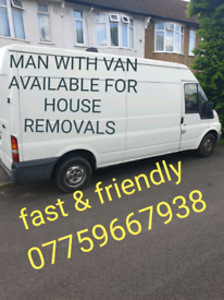 Man and van available for house removals