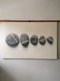 Large 118 x 78cm pebble printed canvas picture